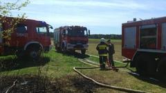 Ostrów Mazowiecka - Do pożaru lasu doszło w miejscowości Zakrzewo-Słom