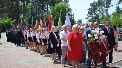 Ostrów Mazowiecka - Mieszkańcy gminy Małkinia Górna dołączyli do uroczystych obc