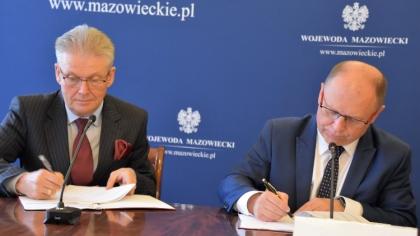 Ostrów Mazowiecka - Powiaty i gminy z terenu województwa mazowieckiego podpisały