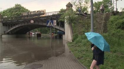 Ostrów Mazowiecka - Gwałtowne burze, które przeszły nad Polską w wielu miastach