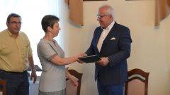 Ostrów Mazowiecka - W brokowskim urzędzie gminy podpisano umowę na prz