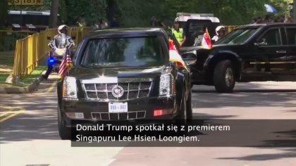 Ostrów Mazowiecka - Donald Trump spotkał się z premierem Singapuru Lee Hsien Loo