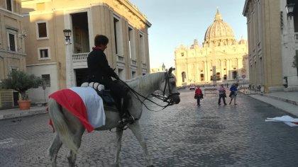 Ostrów Mazowiecka - W Rzymie 26 czerwca zakończyła się pielgrzymka konna Bożeny