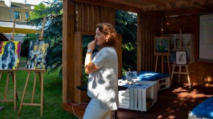 Ostrów Mazowiecka - Anna Pieńkos po raz kolejny poprowadziła warsztaty malarskie