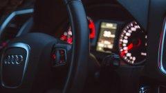 Ostrów Mazowiecka - Kierowca samochodu osobowego audi na drodze w Kusk