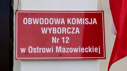 Ostrów Mazowiecka - Frekwencja w powiecie ostrowskim o godzinie 12.00 wyniosła 1