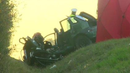 Ostrów Mazowiecka - Samochód osobowy zderzył się z cysterną pod Słupcą. Oba poja