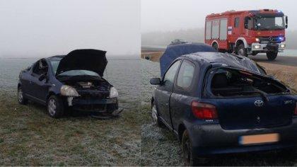 Ostrów Mazowiecka - Do zdarzenia drogowego z udziałem samochodu osobowego doszło