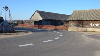 Ostrów Mazowiecka - Zakończono przebudowę skrzyżowania w miejscowości Grądziki (