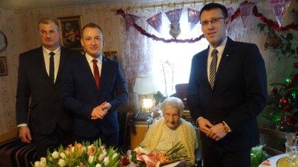 Ostrów Mazowiecka - Wyjątkowy jubileusz obchodziła pani Jadwiga Murawska z gminy