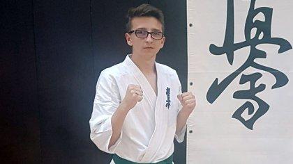 Ostrów Mazowiecka - Rafał Szulęcki to zawodnik Brokowskiego Klubu Karate Kykushi