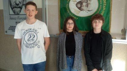 Ostrów Mazowiecka - Franciszek Lech, Ania Rutkowska i Mikołaj Rowicki to uczniow
