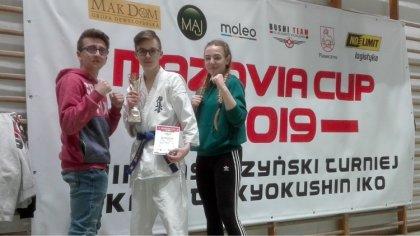 Ostrów Mazowiecka - Kacper Miler z Brokowskiego Klubu Karate Kyokushinkai zdobył