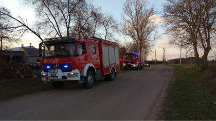 Ostrów Mazowiecka - Do pożaru sadzy w kominie doszło w miejscowości Grądy na ter