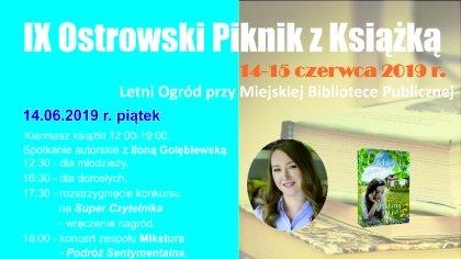 Ostrów Mazowiecka - Kolejna edycja pikniku z książką odbędzie się w letnim ogrod