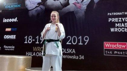 Ostrów Mazowiecka - Zofia Sobotka reprezentowała Brokowski Klub Karate Kyokushin