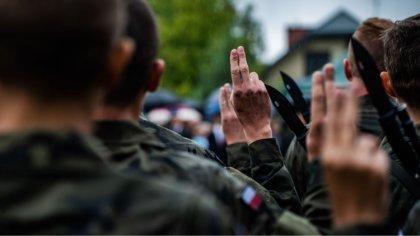 Ostrów Mazowiecka - Wczoraj w Olszynce Grochowskiej słowa roty przysięgi wojskow