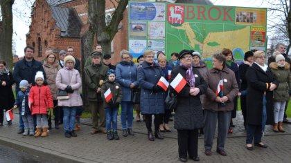Ostrów Mazowiecka - W gminie Brok zorganizowano obchody 101 rocznicy odzyskania