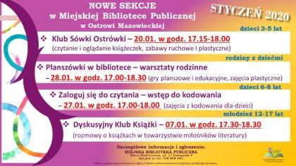 Ostrów Mazowiecka - W Miejskiej Bibliotece Publicznej od nowego roku powstają no