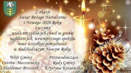 Ostrów Mazowiecka - Z okazji Świąt Bożego Narodzenia i Nowego 2020 Roku życzymy
