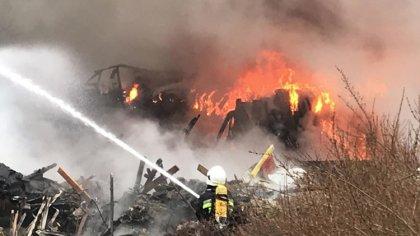Ostrów Mazowiecka - Informację na temat pożaru tzw.
