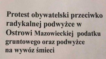 Ostrów Mazowiecka - Jeden z mieszkańców naszego miasta w związku z podjętą uchwa