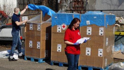 Ostrów Mazowiecka - Polski Czerwony Krzyż na Mazowszu prowadzi działania pomocow