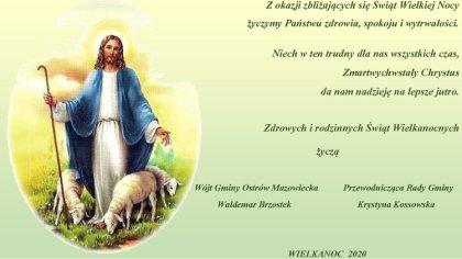 Ostrów Mazowiecka - Z okazji zbliżających się Świąt Wielkiej Nocy życzymy zdrowi