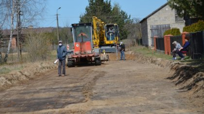 Ostrów Mazowiecka - W kwietniu rozpoczęto budowę ulicy Folwarcznej w miejscowośc
