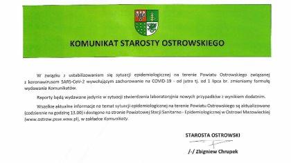 Ostrów Mazowiecka - Od 1 lipca mieszkańcy Ostrowi Mazowieckiej będą mogli korzys