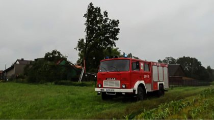 Ostrów Mazowiecka - Po gwałtownej burzy z ostatniego poniedziałku strażacy z OSP