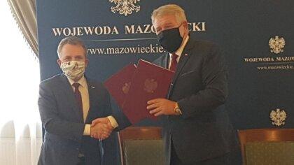 Ostrów Mazowiecka - Burmistrz Jerzy Bauer i Wicewojewoda Sylwester Dąbrowski pod