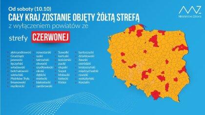 Ostrów Mazowiecka - Jak informuję Ministerstwo Zdrowia, od soboty - dnia 10 paźd