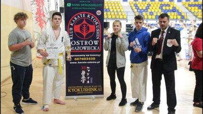 Ostrów Mazowiecka - Zawodnik ostrowskiego klubu karate Kacper Frączyk w kategori