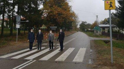 Ostrów Mazowiecka - Dokonano odbioru końcowego dwóch aktywnych przejść dla piesz