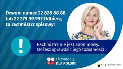 Ostrów Mazowiecka - Rachmistrzowie spisowi kontaktują się przez telefon, dzwonią