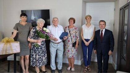 Ostrów Mazowiecka - Państwo Mirosława i Henryk Gołębiewscy obchodzili 70 rocznic