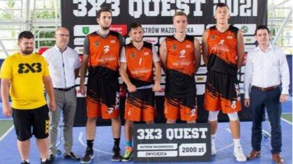 Ostrów Mazowiecka - W Ostrowi Mazowieckiej odbył się turniej QUEST 3x3 w koszykó