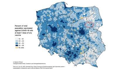 Ostrów Mazowiecka - W sieci przedstawiono interaktywną mapę, na której widać, że