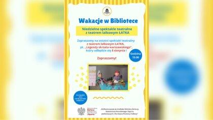 Ostrów Mazowiecka - Biblioteka Publiczna w Broku zaprasza wszystkie dzieci wraz
