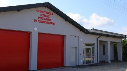 Ostrów Mazowiecka - Prace remontowe budynku Ochotniczej Straży Pożarnej w Komoro
