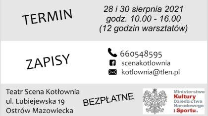Ostrów Mazowiecka - Ruszyły zapisy na warsztaty z zawodowym aktorem Kamilem Przy