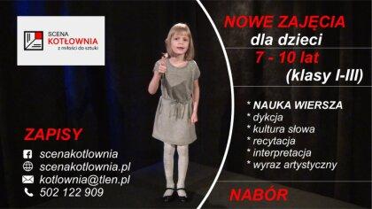 Ostrów Mazowiecka - Teatr Scena Kotłownia wprowadza nowe zajęcia dla najmłodszyc