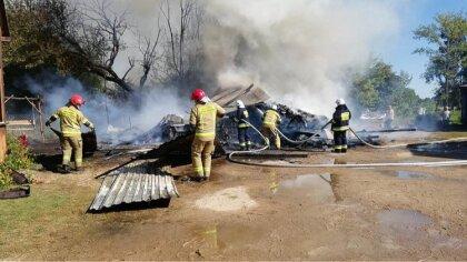 Ostrów Mazowiecka - Pożar budynku gospodarczego w miejscowości Wysocze (gmina Wą