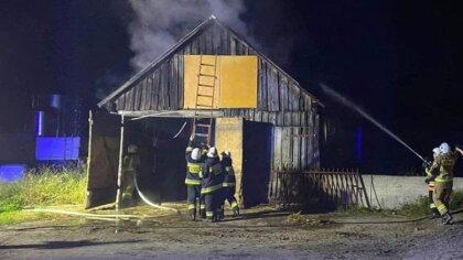 Ostrów Mazowiecka - W sobotni wieczór strażacy zostali zadysponowani do pożaru s
