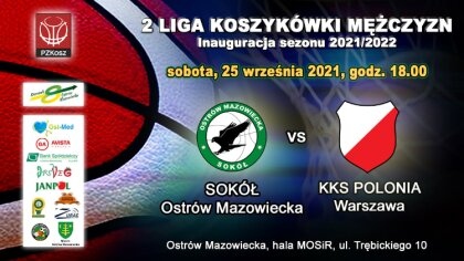 Ostrów Mazowiecka - Już 25 września o godz. 18:00 pierwszy mecz o punkty w II li
