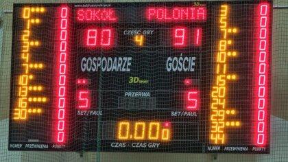 Ostrów Mazowiecka - Koszykarze z Ostrowi Mazowieckiej ulegli 80:91 Polonii Warsz