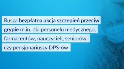 Ostrów Mazowiecka - Ministerstwo Zdrowia przeprowadza bezpłatną akcję szczepień