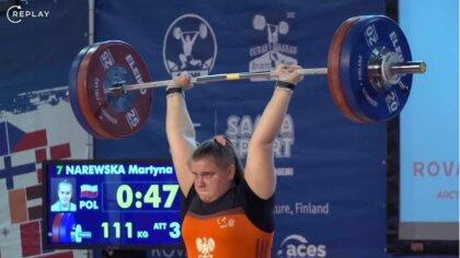 Ostrów Mazowiecka - Wspaniały występ Martyny Narewskiej podczas Mistrzostw Europ