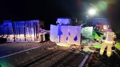 Ostrów Mazowiecka - Do grozie wyglądającego wypadku doszło w piątek 8 październi